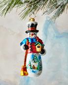 Christopher Radko Snowy Cardinal Nest Ornament