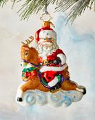 Christopher Radko Dashing Donner Ride Ornament