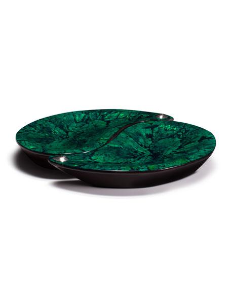LADORADA Yin-Yang Platter Set, Green