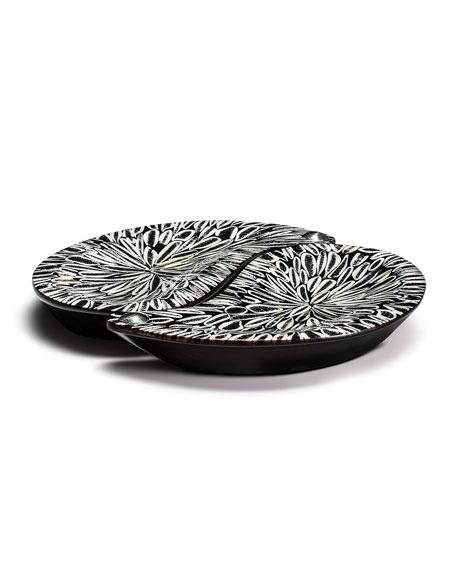 LADORADA Yin-Yang Platter Set, Black