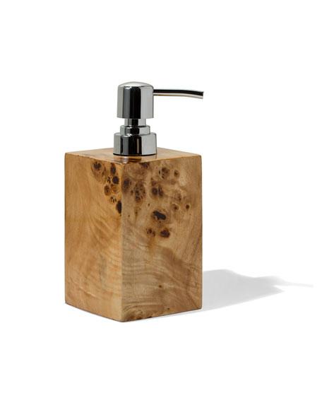 LADORADA Burl Veneer Soap Dispenser