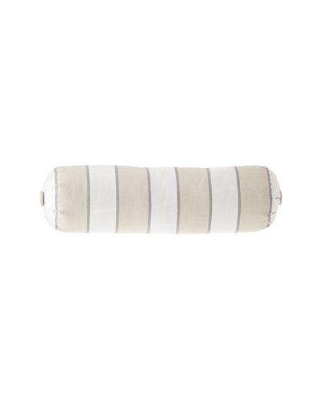Sherry Kline Home Preston Stripe Neck Roll Pillow with Button Ends