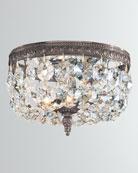 Crystorama 2-Light Clear Italian Crystal Bronze Ceiling Mount