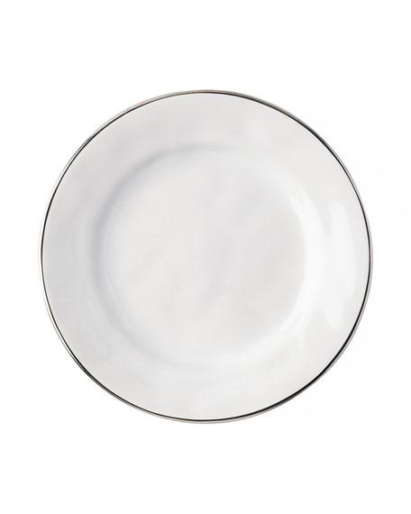 Juliska Puro Side/Cocktail Plate with Platinum Rim