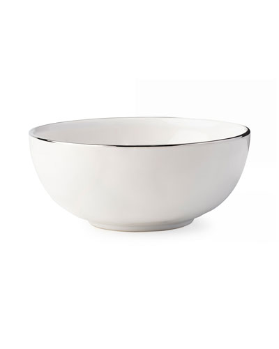 Puro Cereal/Ice Cream Bowl with Platinum Rim