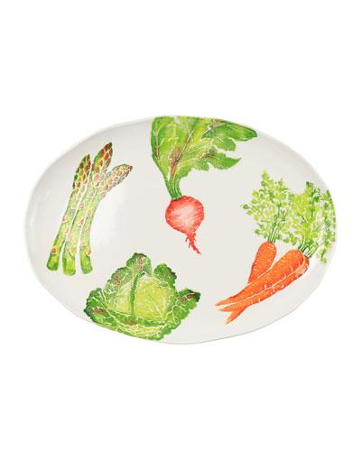 Spring Vegetables Large Oval Platter