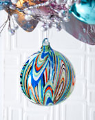 Jim Marvin 120mm Glitter Glass Ball Ornament