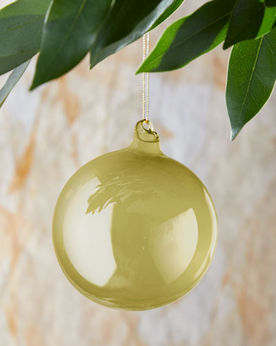 100mm Pearl Glass Ball Gold Christmas Ornament
