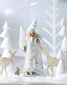 Ino Schaller White Santa Figure with Painted Winter