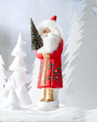 Ino Schaller Red Santa with Tree