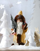 Ino Schaller Gold Glitter Fur Trim Santa