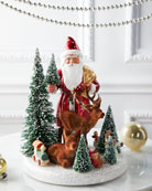 Ino Schaller Santa and Deer Holiday Decor