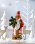 Ino Schaller Red & Gold Santa with Tree