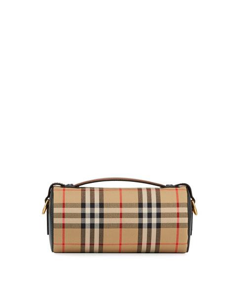 Burberry Vintage Check Barrel Duffel Bag