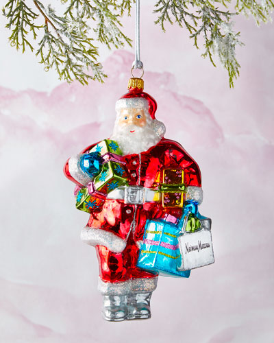 NM Shopping Bag Santa Ornament