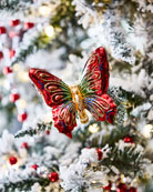 Jewel Butterfly Christmas Ornament