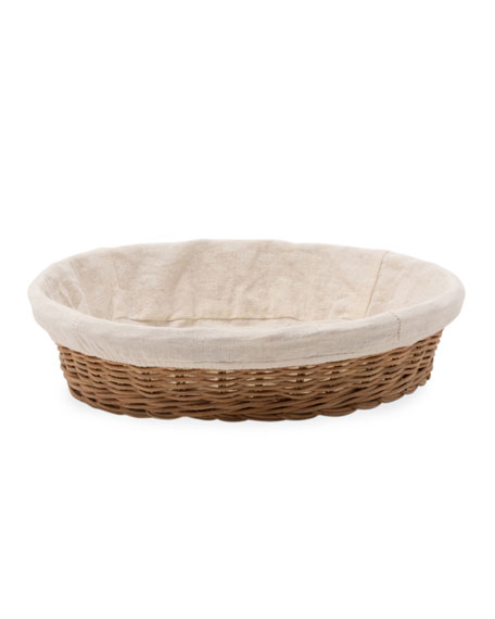 Blue Pheasant Lasata Large Round Rattan Tray with Liner