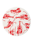 Deborah Rhodes Lobsters Round Placemat