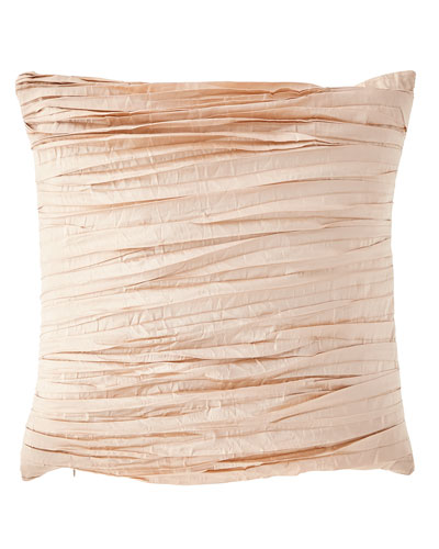 Aurora Pleated Silk Pillow
