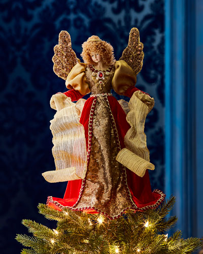 Red & Gold Angel Tree Topper