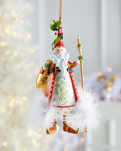 Dash Away Nicholas Santa Ornament