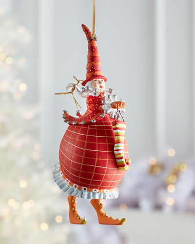 Dash Away Red Mrs. Santa Ornament