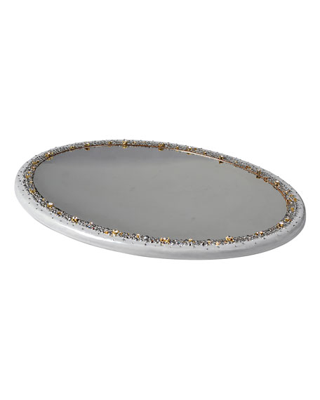 Mike & Ally Duchess Oval Mirrored Vanity Tray