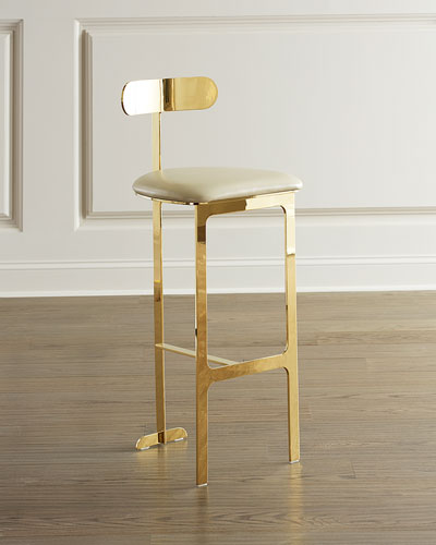 Hollis Faux Leather Bar Stool