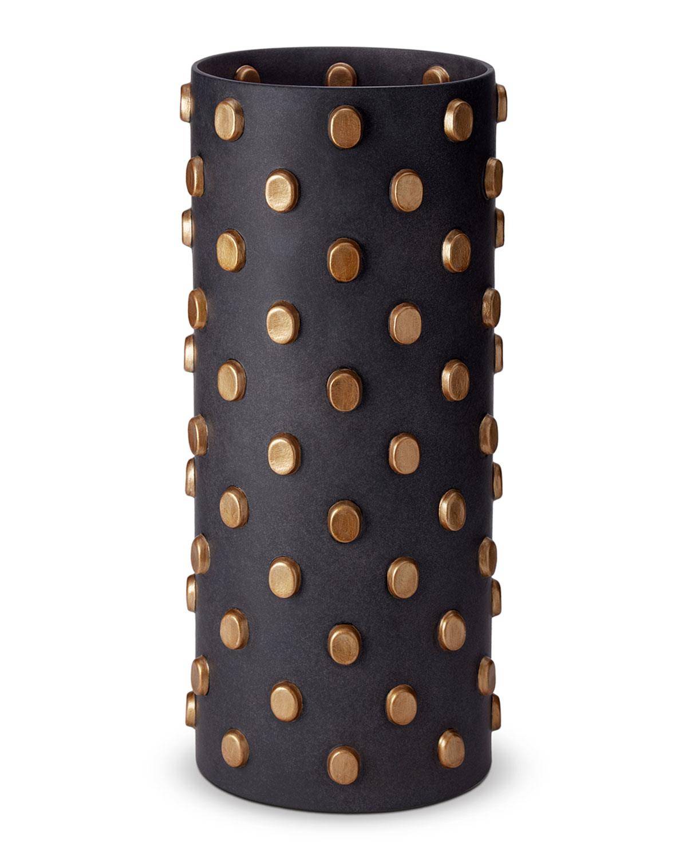 L'objet Clothing TEO BLACK & GOLD VASE - X-LARGE