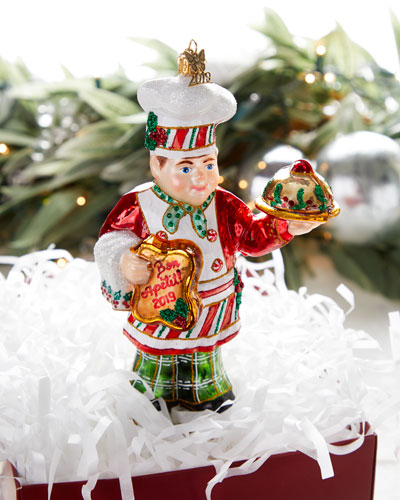 John Huras  Gingerbread Chef Santa Christmas Ornament