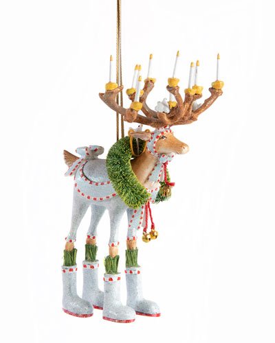 Dash Away Dasher Reindeer Ornament