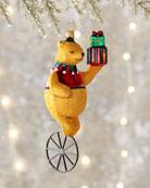 Christmas Book Artwork Bear Ornament