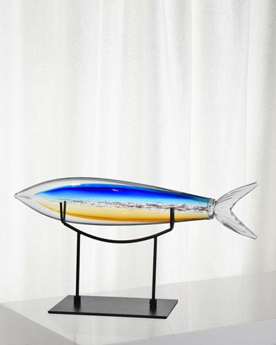 Decorative Art Glass Shark Fish Figurine