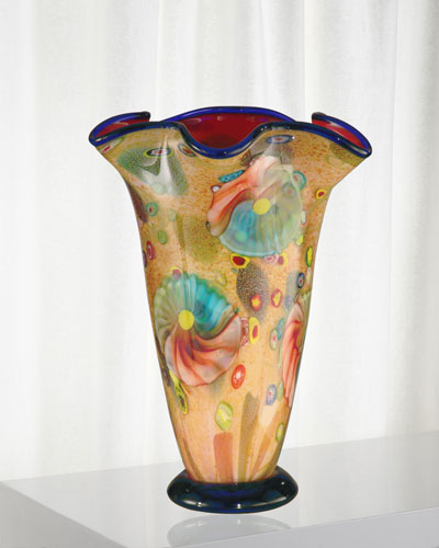 Coast Sand Decorative Art Glass Vase