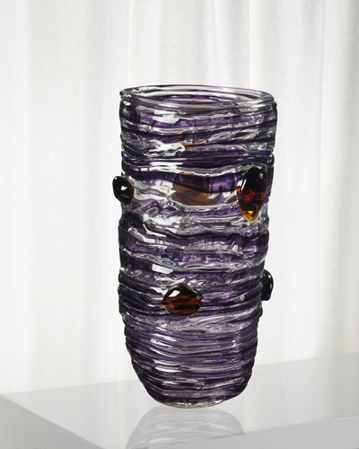 Amethyst Decorative Art Glass Vase