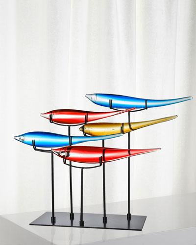 Decorative 5 Multicolor Fish Figurine
