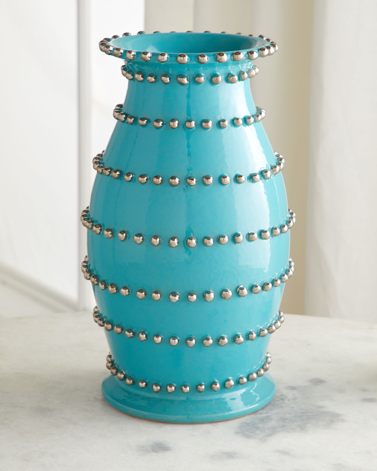 Dolfi VASE WITH SILVER PEARLY BEADS