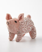 Anke Drechsel Old Rose Lux Sequins Pig Decor