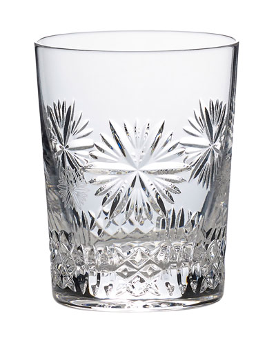 Snowflake Wishes Prosperity Double Old-Fashioned Glass