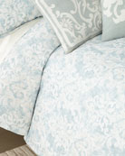 Lili Alessandra Florencia Faded Damask Queen Duvet Cover