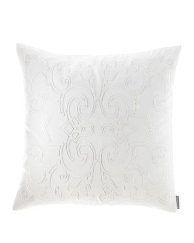 Emma Square Applique Decorative Pillow