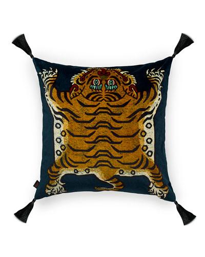 Saber Midnight Large Velvet Pillow