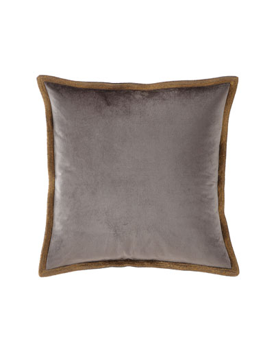 Velvet Metallic Stitch Decorative Pillow