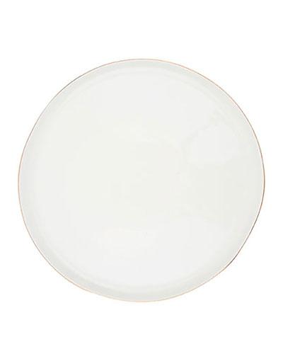 Abbesses Gold Rim Large Plates, Set of 4