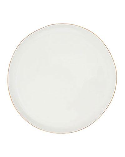 Abbesses Gold Rim Medium Plates, Set of 4
