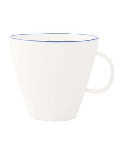 Abbesses Blue Rim Cups, Set of 4