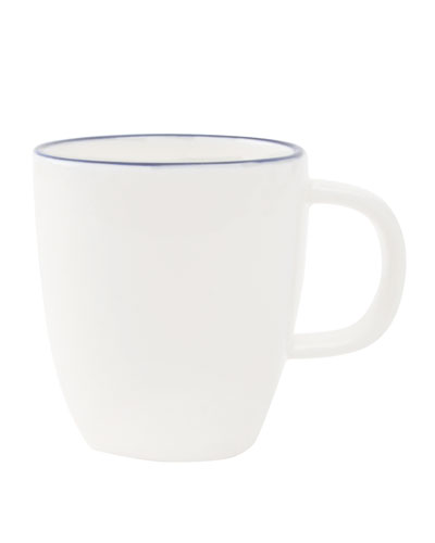 Abbesses Blue Rim Espresso Mugs, Set of 4