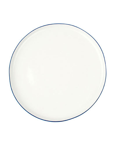 Abbesses Blue Rim Large Plates, Set of 4
