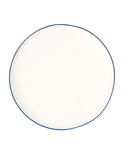 Abbesses Blue Rim Medium Plates, Set of 4