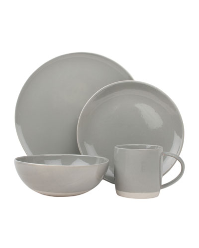 Shell Bisque Grey 16-Piece Dinnerware Set